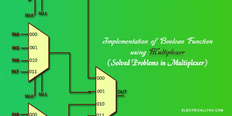Implementation of boolean function in multiplexer | Solved Problems